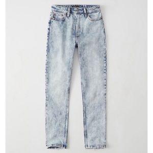 Abercrombie Acid Wash Simone High Rise Slim Jeans